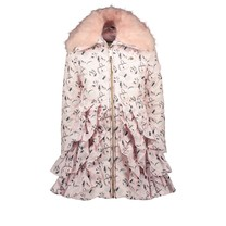 winterjas ruffle chic boutique pretty in pink