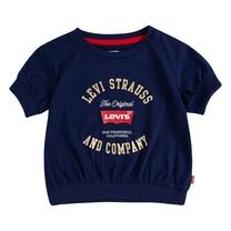 meisjes T-shirt banded knit medieval blue