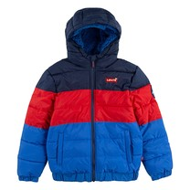 jongens winterjas color block puffer prince blue