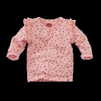 newborn meisjes longsleeve Miami soft pink/dots
