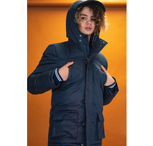 Bellaire winterjas Bowan parka hooded with reflective piping in the hood navy blazer