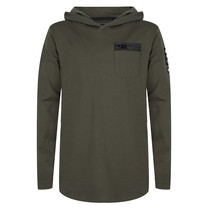 jongens longsleeve hooded dark army