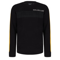 jongens trui crewneck colorblock check black