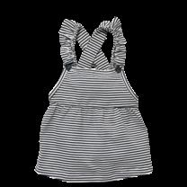 salopette jurk Zavira off white stripe