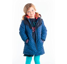 B.Nosy meisjes winterjas parka with aop flame and ruffle detail on chest blue flame