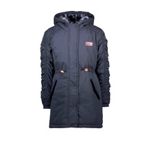B.Nosy meisjes winterjas parka with elastic detail at sleeves and batch on chest oxford blue