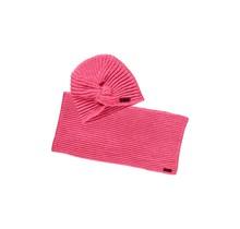 B.Nosy meisjes muts + colsjaal shocking pink