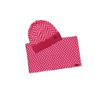B.Nosy meisjes muts + colsjaal zigzag shocking pink