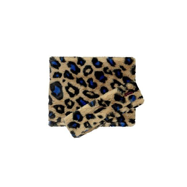 B.Nosy meisjes  haarband + colsjaal cobalt panther fur