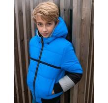 B.Nosy jongens winterjas reverseble jacket with contrast sleeve-end black