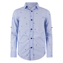 jongens blouse Paulus electric blue
