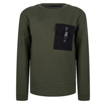 jongens trui pocket dark army