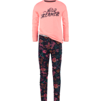 meisjes pyjama Wanneke peach pink
