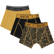 jongens boxer 3-pack Camole multicolor army green