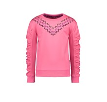 B.Nosy meisjes trui with v-shaped embroidery on chest knock out pink