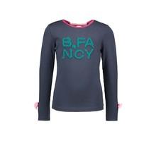 B.Nosy meisjes longsleeve with fancy pleated mesh artwork oxford blue