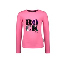 B.Nosy meisjes longsleeve with chest artwork knock out pink