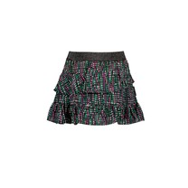 rok woven with aop and slanted ruffle rock stripe