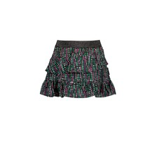 B.Nosy rok woven with aop and slanted ruffle rock stripe