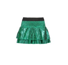 B.Nosy rok foil crack leather with smocked wb and layers jade green
