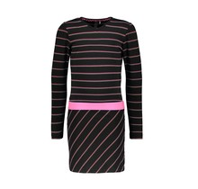 B.Nosy jurk with vertical striped top and slanted striped skirt YDS sparkling stripe