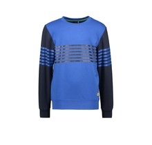 B.Nosy jongens trui with vertical printed stripes on body and sleeves nautical blue