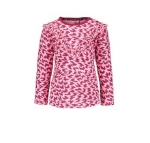B.Nosy meisjes longsleeve flame aop with v-shaped ruffle on chest