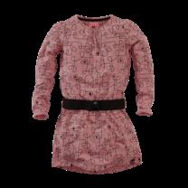 jurk Dionne misty rose/aop