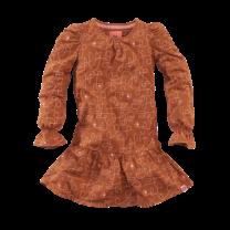 jurk Siske copper blush/aop