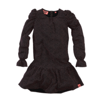jurk Arleen beasty black/aop