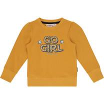 meisjes trui Niska ochre yellow