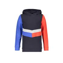 trui Kako hooded contrast parts navy blazer