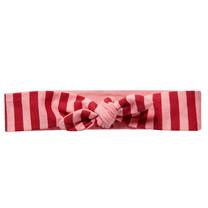 haarbandje Evita red chili pink stripe