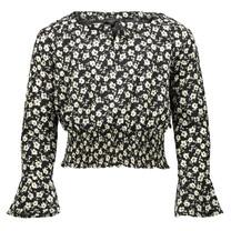blouse Pearl black flower