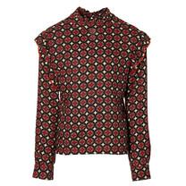meisjes blouse Kaycie dark red retro