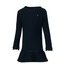 jurk Lara dark blue stripe