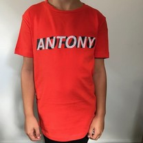 T-shirt with logo print orange