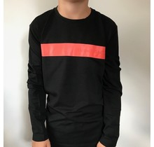 Antony Morato longsleeve round collar with front print black