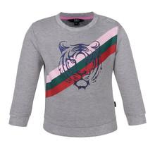 Beebielove meisjes trui stripe grey
