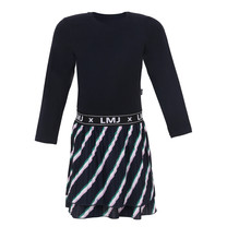 jurk slanted stripe navy
