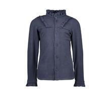 B.Nosy meisjes blouse rib with ruffle oxford blue