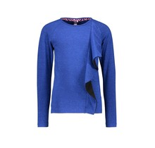 B.Nosy meisjes longsleeve with vertical 2-color ruffle cobalt blue
