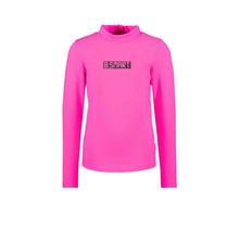 B.Nosy meisjes longsleeve with coll and embroidery on chest pink glo