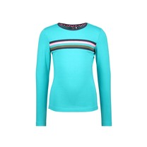 meisjes longsleeve with rib on chest rib ceramic