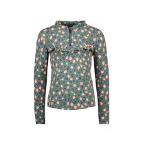 meisjes blouse spots ao with zipper and ruffle flaw spots