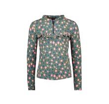B.Nosy meisjes blouse spots ao with zipper and ruffle flaw spots
