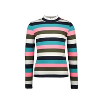 meisjes longsleeve with multicolor rib yarn dyed stripe