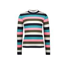 B.Nosy meisjes longsleeve with multicolor rib yarn dyed stripe