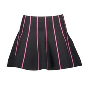 B.Nosy rok knitted with multicoloured vertical stripes black