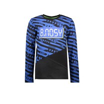 jongens longsleeve with slanted cut and sew panels and chest artwork fast track